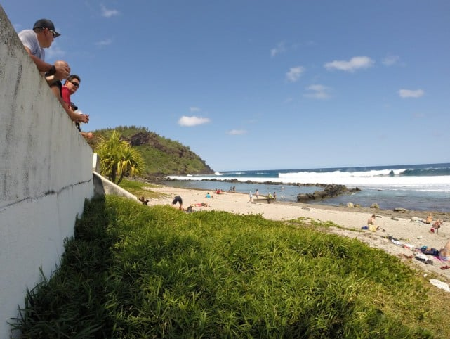 One of many beautiful beaches to choose from on the island.