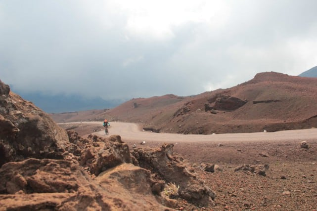 The red Martian landscape of le Volcan.
