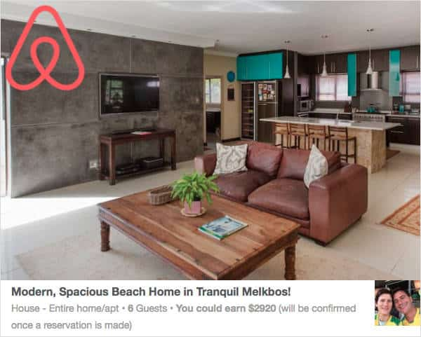 AirBnB Listing for Property Owner in Melkbosstrand - Tourism Marketing SA Case Study